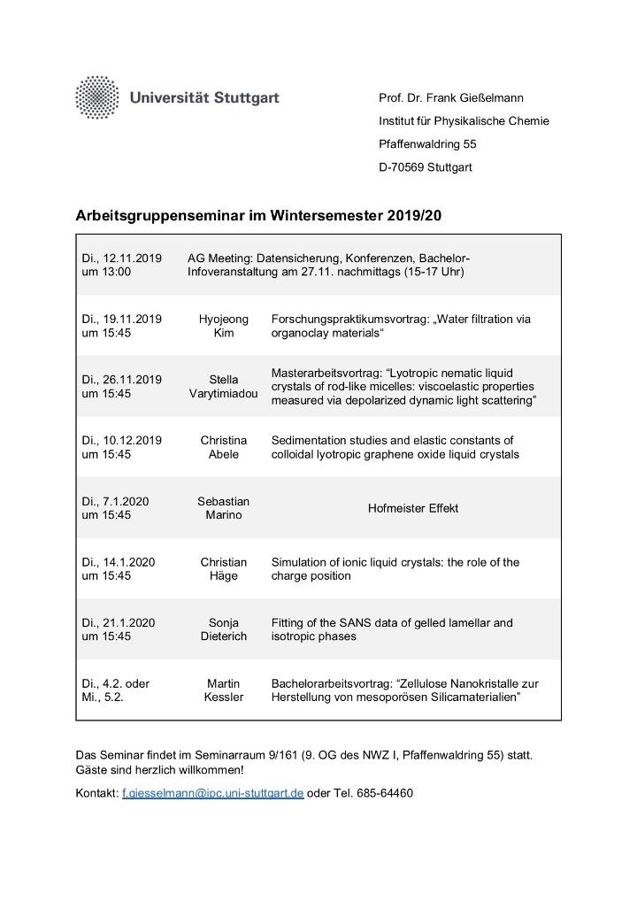 Group seminar 19/20