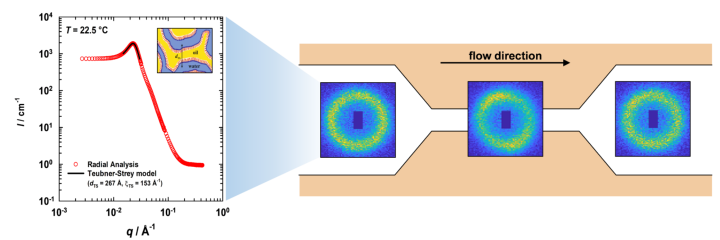 Microfluidics: SANS data and scattering patterns (c)